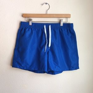 Bright Blue Short Swimming Trunks